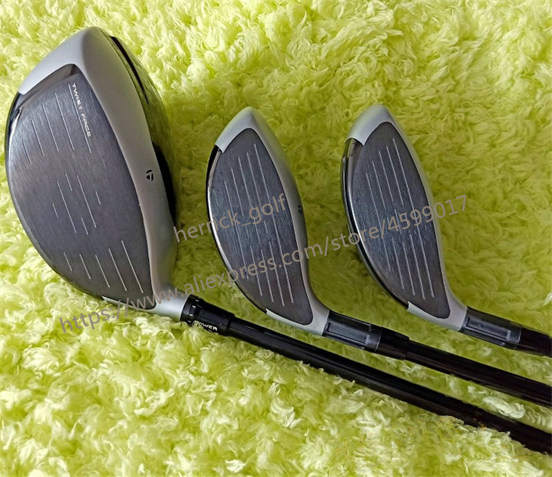 12 pz M4 Golf Set Completo M4 Golf clubs M4 Driver + Fairway Woods Ferri Da Stiro + putter Grafite/Acciaio Inox pozzo Con Copertura Della Testa senza sacchetto