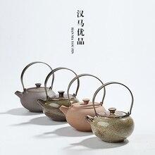 Японский стиль грубая керамика кунг-фу Чайник один горшок керамический ручной бытовой чайник церемонии чайник утварь церемонии