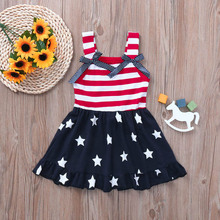 girls dresses 4th of july toddler girl clothing princess casual 2019 sleeveless thanksgiving beautiful fashion baby red