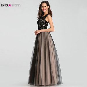 Image 4 - Evening Dresses Long Ever Pretty EZ07788 Sexy A line Tulle Sleeveless Lace Wedding Guest Gowns Cheap Blush Long Formal Gowns