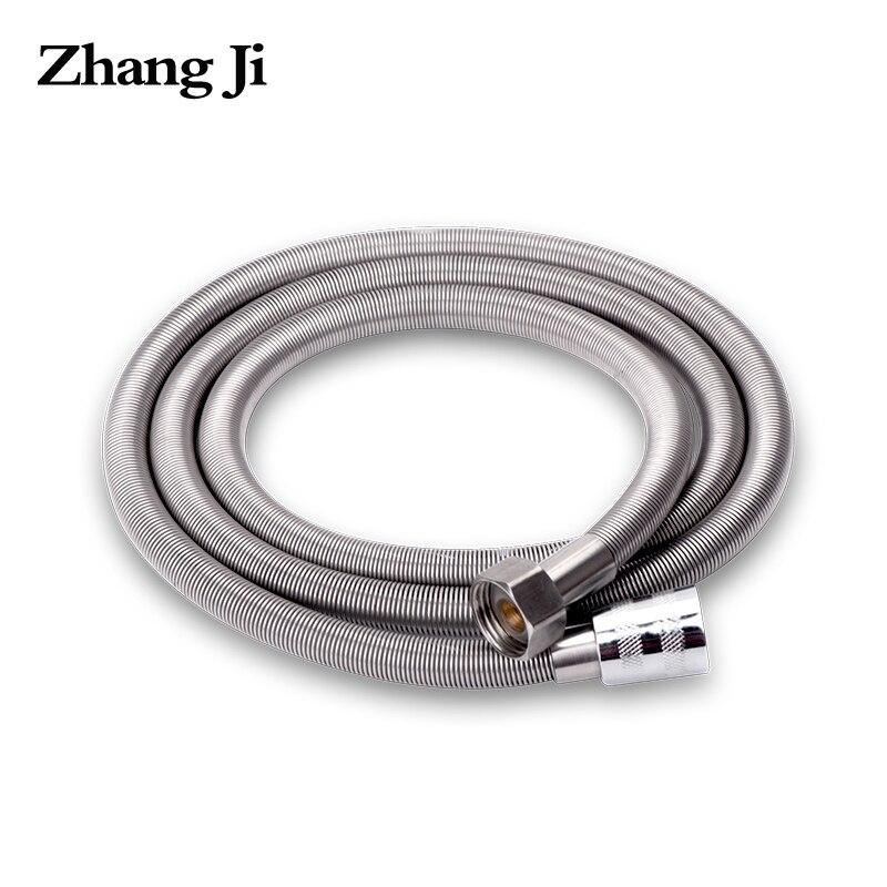 ZhangJi 1.5m Stainless Steel Shower hose High Density Anti-Crack Bathroom High Quality Flexibel Water Pipe Common Plumbing Hoses