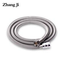 ZhangJi 1.5m Stainless Steel Shower hose High Density Anti-Crack Bathroom Quality Flexibel Water Pipe Common Plumbing Hoses