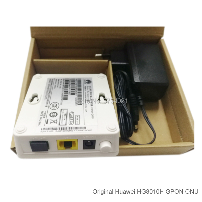 20 pièces Huawei GPON ontario HG8010H 1GE ports SC APC Huawei Echolife HG8010H GPON Terminal ONTARIO Optique FTTH Routeur