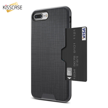 KISSCASE Matte Mobile Phone Case For iPhone X XR XS MAX Card Slot Fashion Covers Fundas Capa 8 7 6 6s Plus