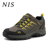 NIS Men Hiking Safety Sneakers Outdoor Sport Trainers Breathable Waterproof Climbing Sport Sneakers Casual Men Vulcanize Shoes