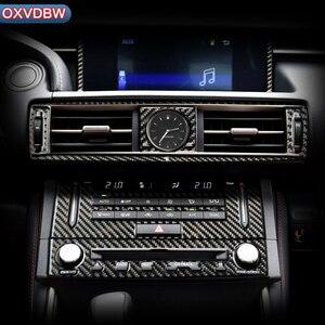 Per LEXUS IS300H 200 250 350Accessori In fibra di Carbonio Assetto Interno Outlet CD Pannello di controllo di Aria Condizionata Centrale adesivi Per Auto(China)
