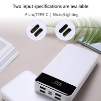 Power Bank 30000mAh External Battery Backup Power Support Type c Quick Charge with LED Display 4 usb real 30000 mah povebank