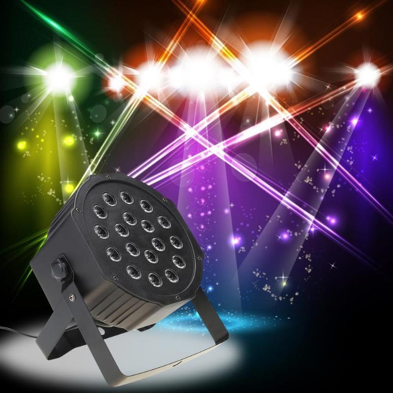 7 Color LED Par Lights Flashing Stage Light DMX512 Control Wedding DJ KTV Bars Lamp Feastival Atmosphere Lights