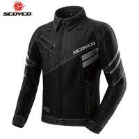 SCOYCO Denim Motorcycle Jacket Riding Moto Coat Protection Clothing Reflective Body Armor Man Clothes Rider Protector Jackets