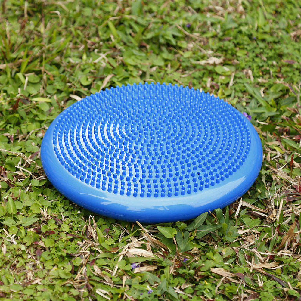33x33cm Durable Inflatable Yoga Massage Ball Pad Universal Sports Gym Fitness Yoga Wobble Stability Balance Disc Cushion Mat