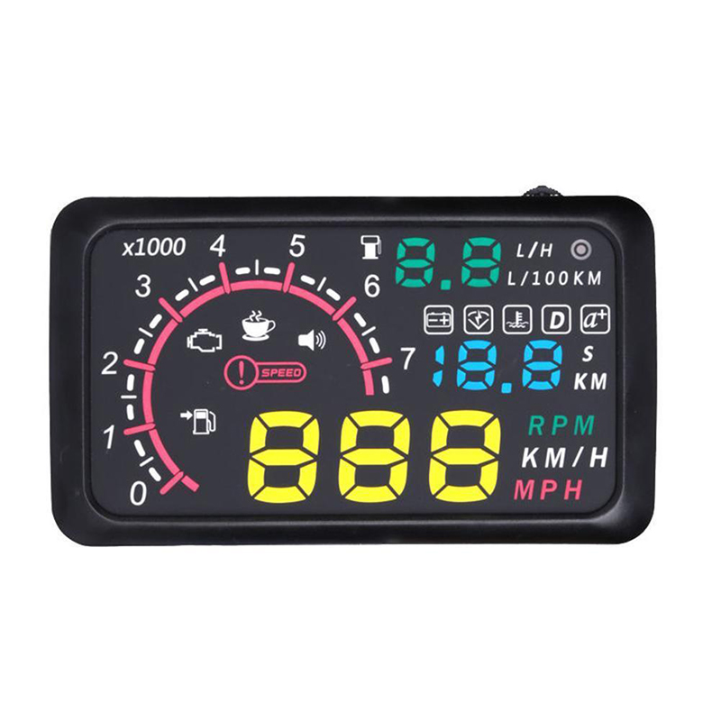 OBD2 EUOBD Car HUD Head Up Display Overspeed Warning System 5.5 Universal Fits