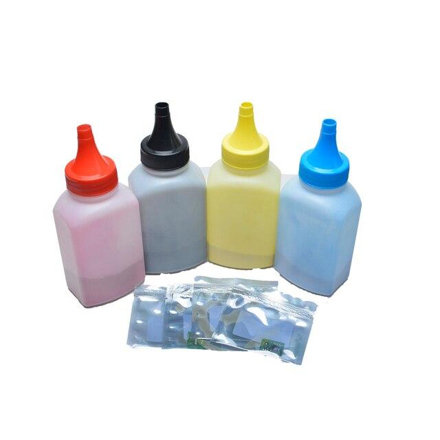 4bottles with 4pcs chips)Compatible bulk color toner powder for ...