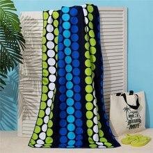 Полотенце пляжное Этель 70*140 см, Круги на черном, микрофибра 250гр/м2   3936320