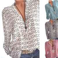 5XL Plus Size Tops Women's Shirts Spring Summer Blouses Casual Loose Blusa Plaid Print Long Sleeve Chiffon Shirt White Blouse