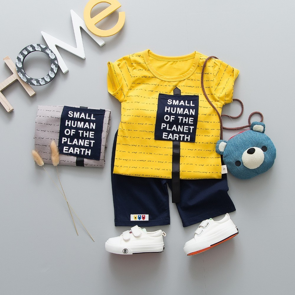 d796b3fa9d584e New Summer Children Boys Girls Clothing Baby Fashion Letters T-shirt Pants  2Pcs Set Kid Sport Infant Clothes Toddler Tracksuit - aliexpress.com -  imall.com