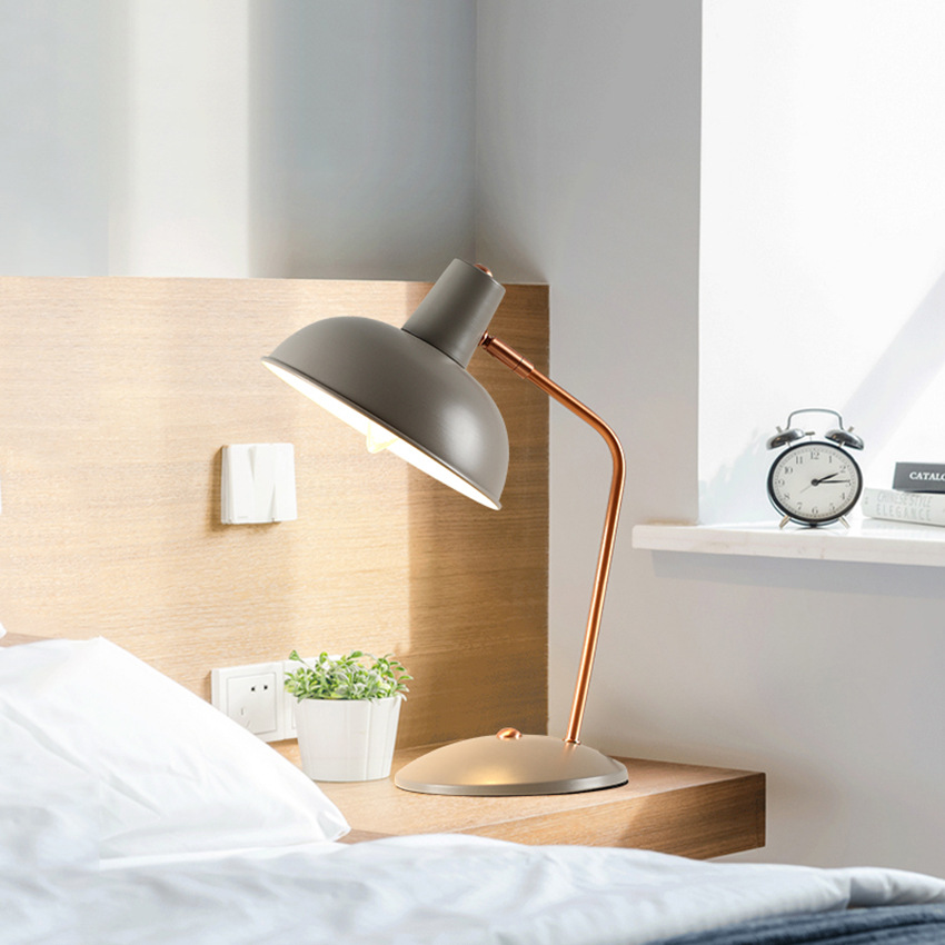 Modern Pink Led Desk Table Lamps Simple Office Bedroom Led Table Lamp Bedside Light Table Light Lamps Bedroom Luminaire in Desk Lamps from Lights Lighting