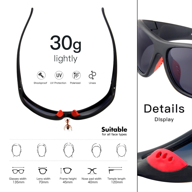 Marco Tr90 Gafas Polarizadas Sol Pesca De Para Queshark Pro 76gybf
