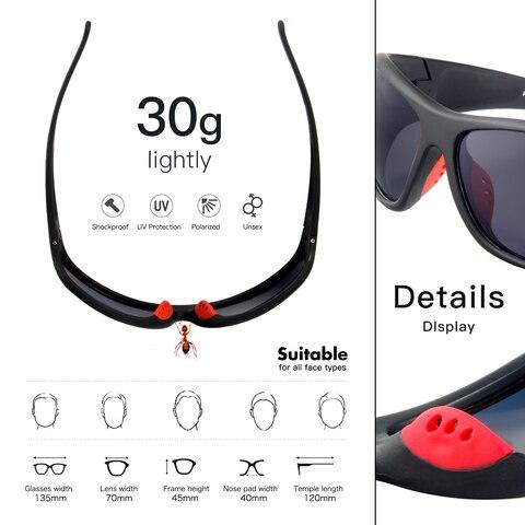 oculos de pesca queshark tr90 quadro hd polarized