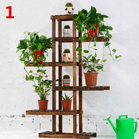 Wooden Plant Flower Shelf Stand Indoor Outdoor Garden Flower Planter Rack Nursery Pot Holder Hom Balcony Display Rack 2019 New
