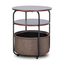 Coffee Table Armchair Slide Under Sofa End Table Round Sofa Console Table with Storage