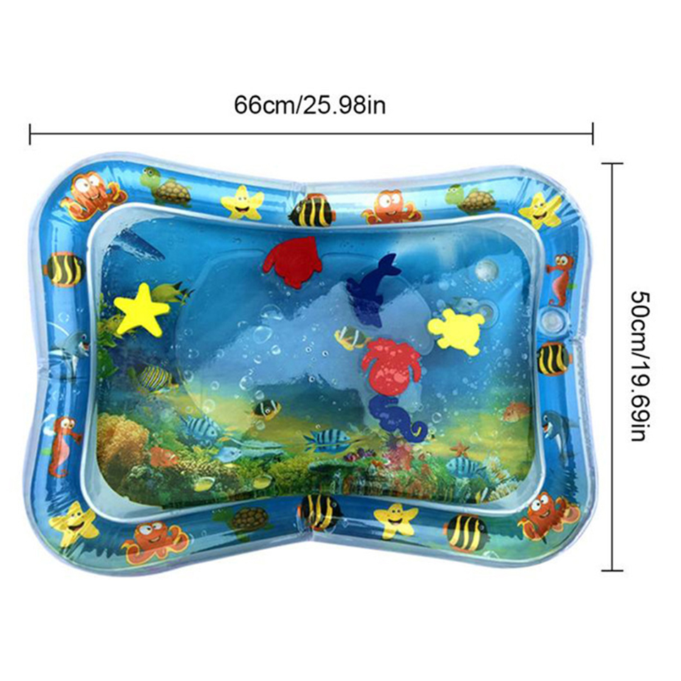 Baby Kids Water Play Mat Inflatable Thicken PVC Infant Tummy Time Playmat Toddler Fun Activity Play
