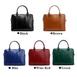 Image 2 - Cowhide Handbag For Women Luxury Shoulder Crossbody Bags Womens Office Messenger Bag Ladies Handbags Sac A Main Bolsos Mujer