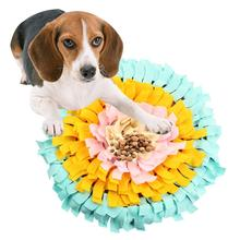 Large Flowers Dog Snuffle Feeding Mat Washable Training Piecing Blanket Pet Playing Toy Encourages Natural Foraging Skills