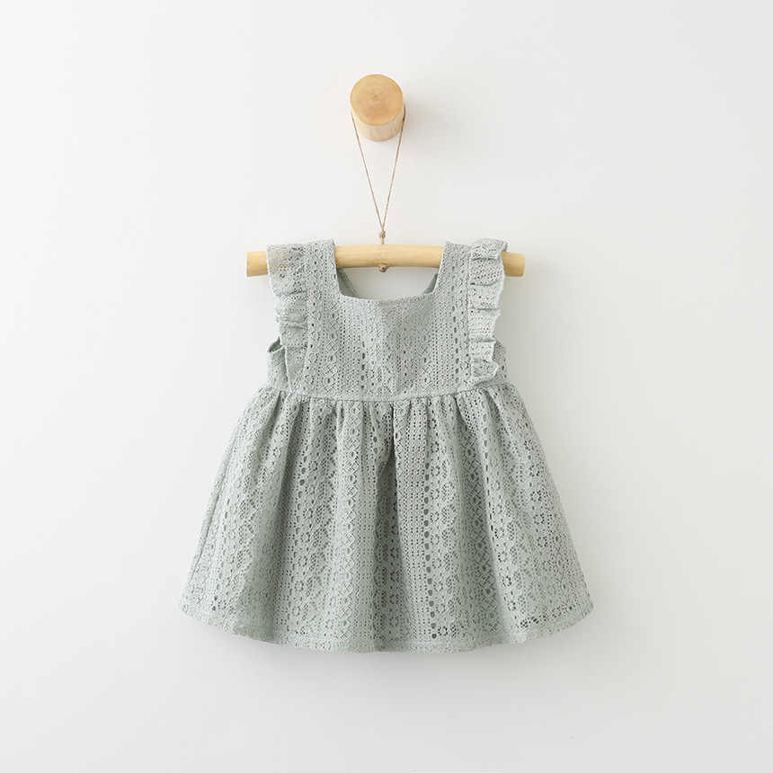 d0038c174f ... summer lace dress age for 9 month-4 yrs toddler girls ruffle cute  dresses 2019