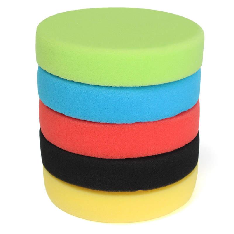 Wholesale Price 5Pcs 6 Inch/150mm Flat Sponge For Buff Pad Polishing Pad Kit For Car Polisher Pads 6inch