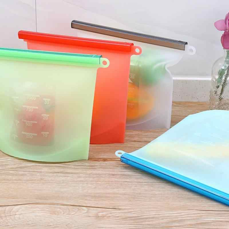 1500ML Reusable Vacuum Silicone Food Bag Sealer milk Fruit Meat Storage Bags Fridge Food Storage Containers Refrigerator Bag 10