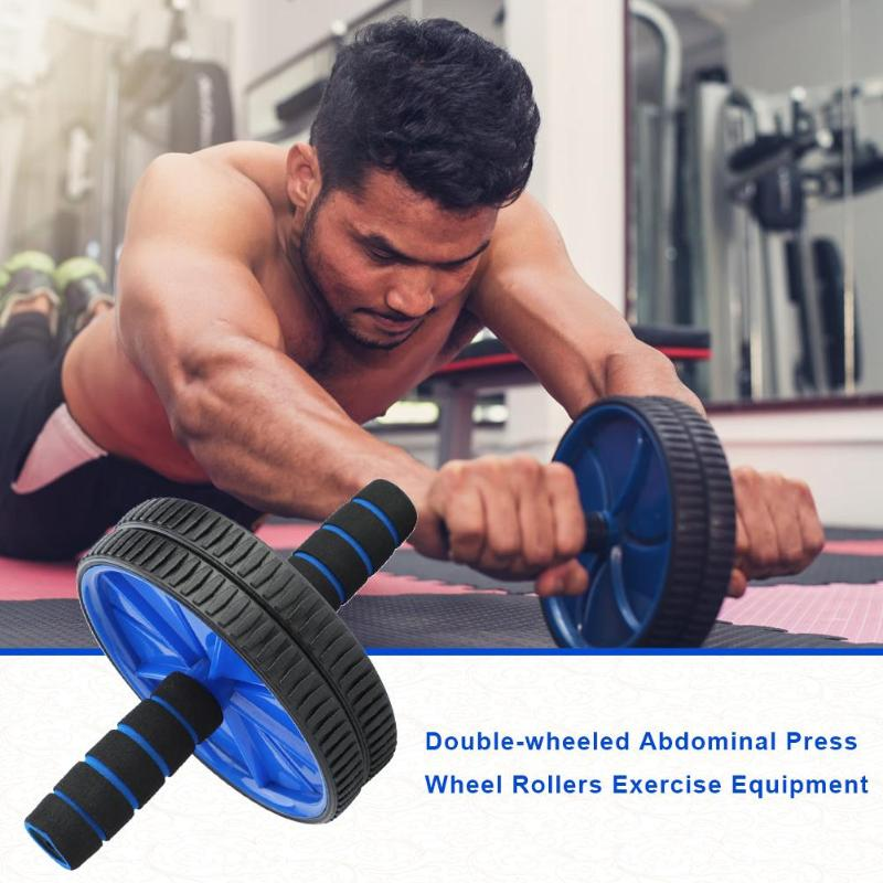 2019 Double-wheeled Updated Ab Abdominal Press Wheel Rollers Crossfit Gym Exercise Equipment For Body Building Fitness