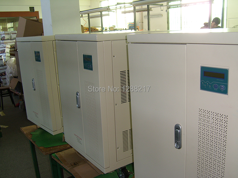 Three Phase 5KW Grid Off Inverter DC48V to AC380V 380VAC Input Built in AC Charger UPS
