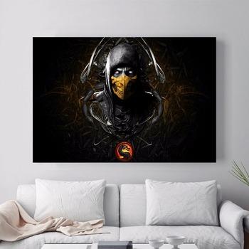Mortal Kombat rysunek obraz drukowany na płótnie plakat na ścianę zdjęcia do salonu wystrój wnętrz bez ramki tanie i dobre opinie GAME Wodoodporny tusz Malowanie natryskowe Poziome Prostokąt Klasyczne Eric and May Unframed Płótno wydruki Oddzielne
