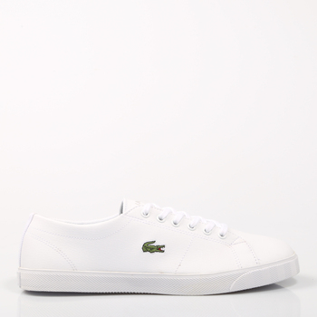 Lacoste MARCEL LCR White Leather Women Sneaker Sport Rubber Flat Laces Skate Causal Fashion Original Classic Small Size 60769