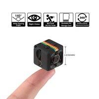 Fangtuosi sq11 mini câmera hd 1080p, câmera pequena de visão noturna e sensor de movimento dvr, camcorder e dv para esportes