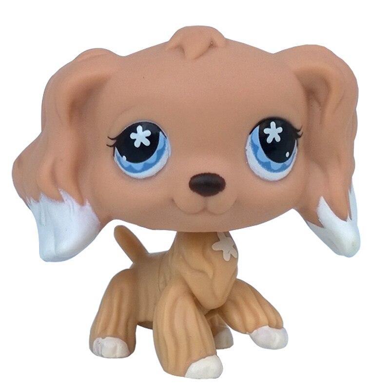 Rare Pet Shop Toys #568  Puppy Dog Cocker Spaniel Flower Eyes Original Collection Animal Figure For Children