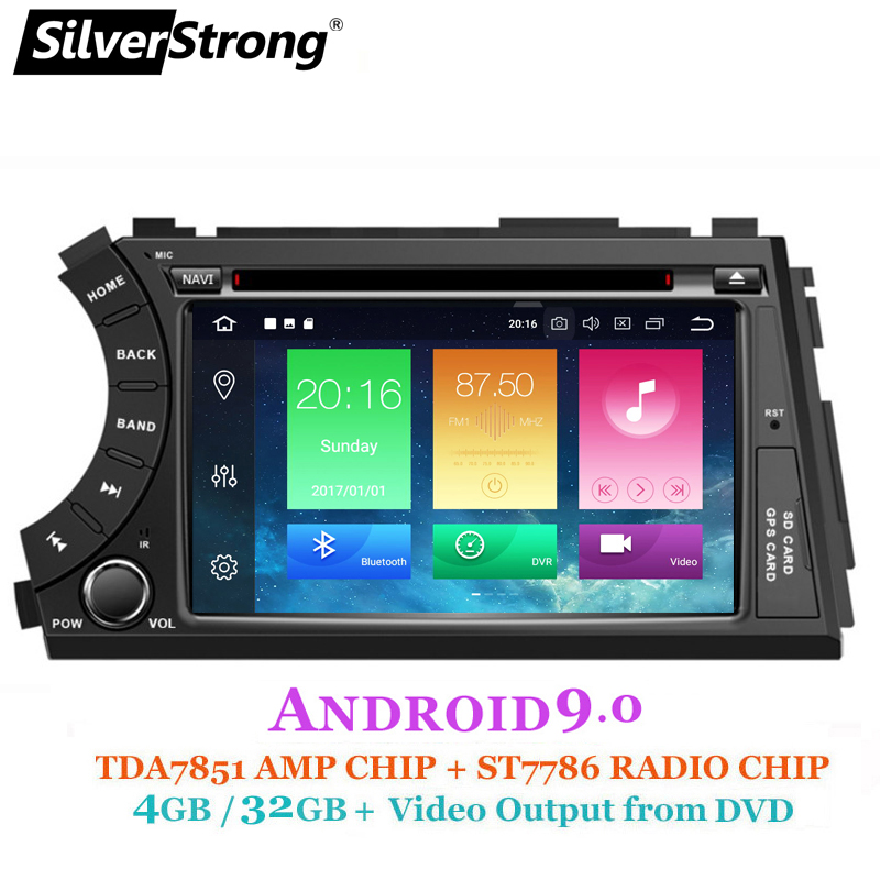 SilverStrong 2DIN Android9 0 4G 32GB OctaCore Car DVD GPS For SsangYong Actyon Kyron 2G16G DSP