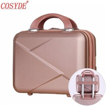 Cosyde New Hot Suitcase Selling Hand Cosmetic Case Makeup Case Cosmetic Bag Lockable Jewelry Box For Ladys Gift Make Up Box цена и фото