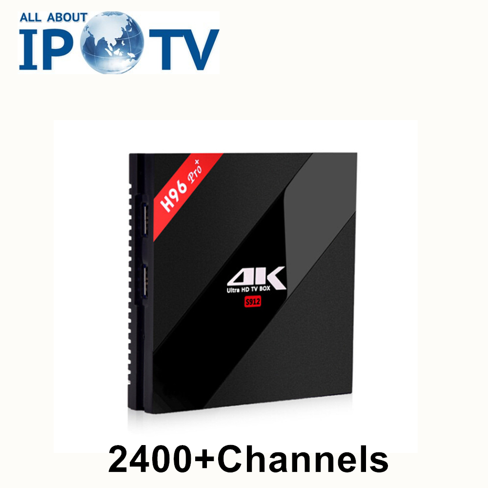 Original H96Pro IPTV Arabic Tv Box France Turkey Germany Spain Africa Portugal Android Smart H96 Pro