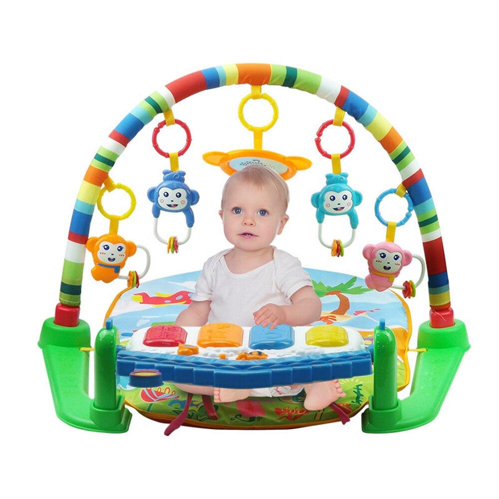 2 en 1 bébé coup de pied et jouer Piano tapis de gymnastique support nouveau-né musique Fitness support hochet jouet jouer ramper tapis début jouet éducatif