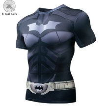 Batman 3D Print t shirts Men Compression fitness Superhero Tops costume Short Sleeve Fitness T-shirts S-4XL X Task Force