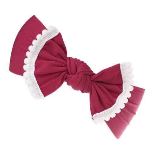 Noworodka maluch dzieci dziewczynek duży łuk Nylon opaska do włosów stałe słodkie i piękne 21 stylów z pałąkiem na głowę elastyczny turban Knot szef Wrap hot
