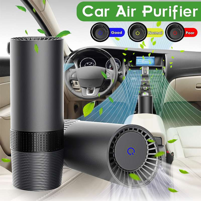 AUGIENB Mini Car Home Air Purifier HEPA Fresh Air Negative Ion Purifier Oxygen Removes Smoke