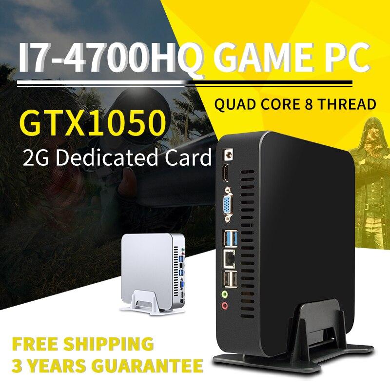 MSECORE i7 4700HQ GTX1050TI 4G carte dédiée jeu Mini PC Windows 10 ordinateur de bureau barebone jeu Nettop HTPC WiFi bluetooth