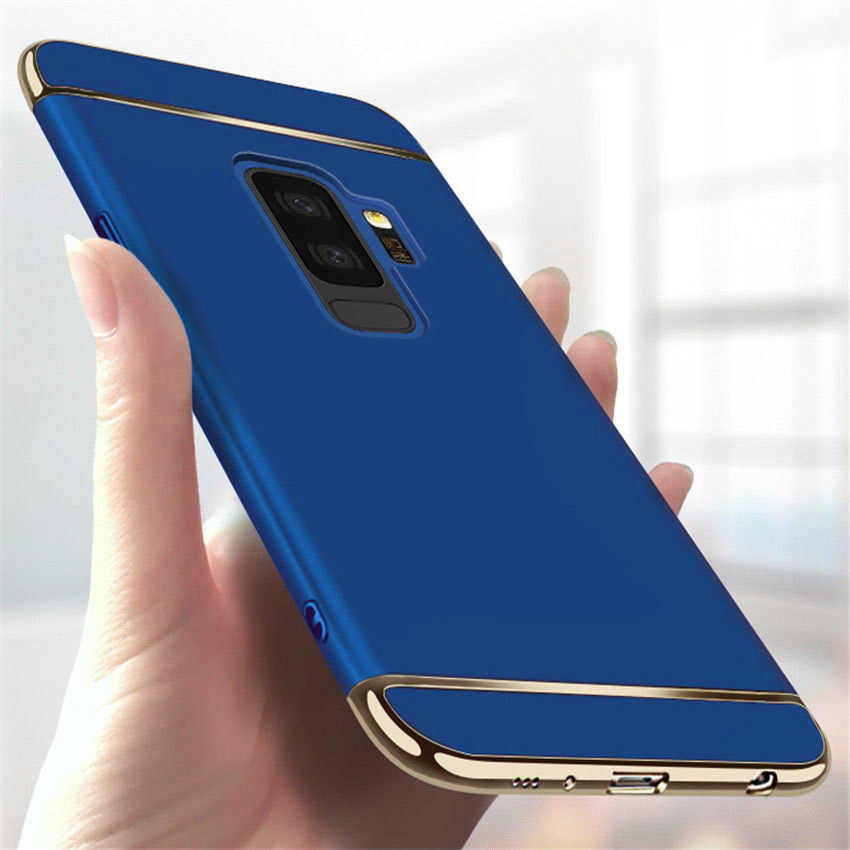 Luxury 3 IN 1 Hard PC Cases For Samsung Galaxy S10E S10 Plus A8 A6 J4 J6 Plus A750 2018 S6 S7 Edge S8 S9 Plus Colors Matte Cover