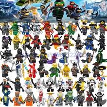 Legoing Ninja Ninjagoes Figures Nya Jay Zane Kai Lioyd Samukai Cole Harumi Pythor Master Wu Legoing Building Blocks Bricks Toys