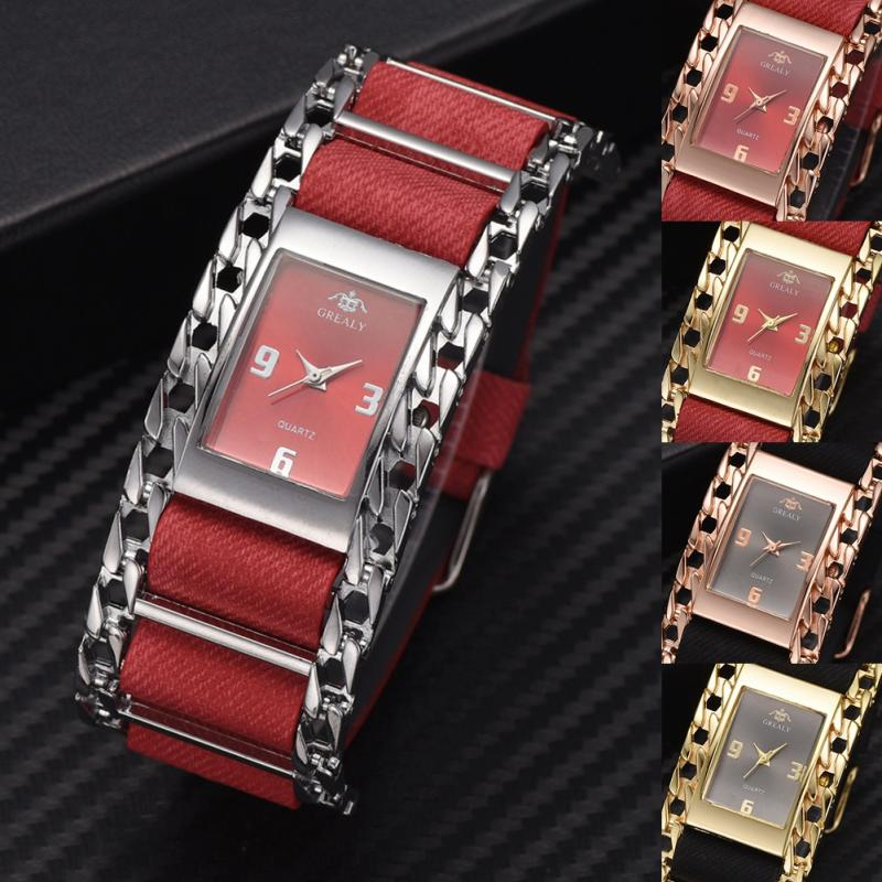 Fashionable Business Alloy Women Watch Female Analog Display Quartz Wristwatch