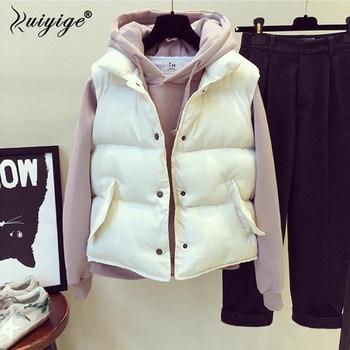 Ruiyige 2019 Spring Women's Vest Jacket Warm Cotton Winter Sleeveless Jacket Chalecos Para Mujer Waistcoat Women Gilet Femme