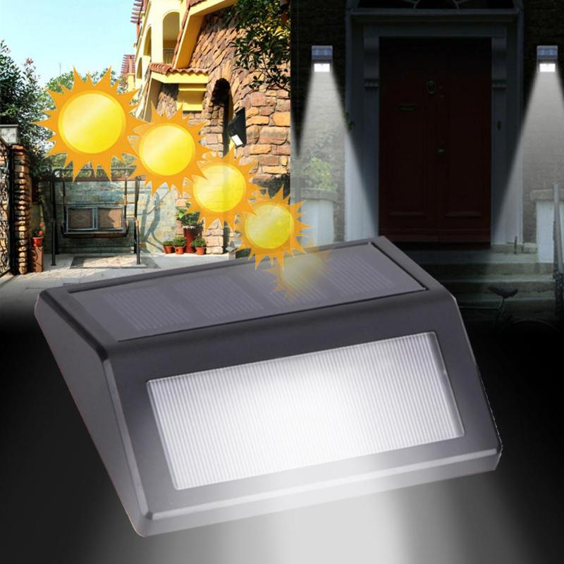 Rational 2pcs Sensor Energy Led Lights Ip55 Waterproof Light Outdoor Wall Mount Pathway Garden Fence Security Stair Energy Saving Lamp Handsome Appearance Solar Lamps