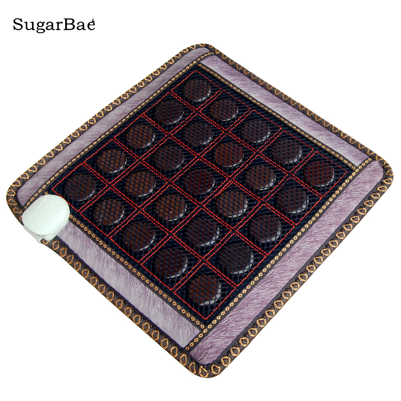 New Arrival Cheap Price Tourmaline Heating Seat Mat Therapy Tourmaline Mattress Therapy Jade Cushion Free Shipping household jade mattress heating electronic therapy chair cushion 8 design for your choice